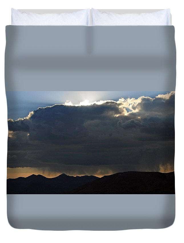 Landscape Duvet Cover featuring the photograph Afternoon Storm by Gregory Yost