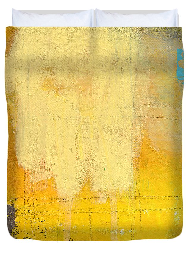 Abstract Duvet Cover featuring the painting Afternoon Sun -Large by Linda Woods