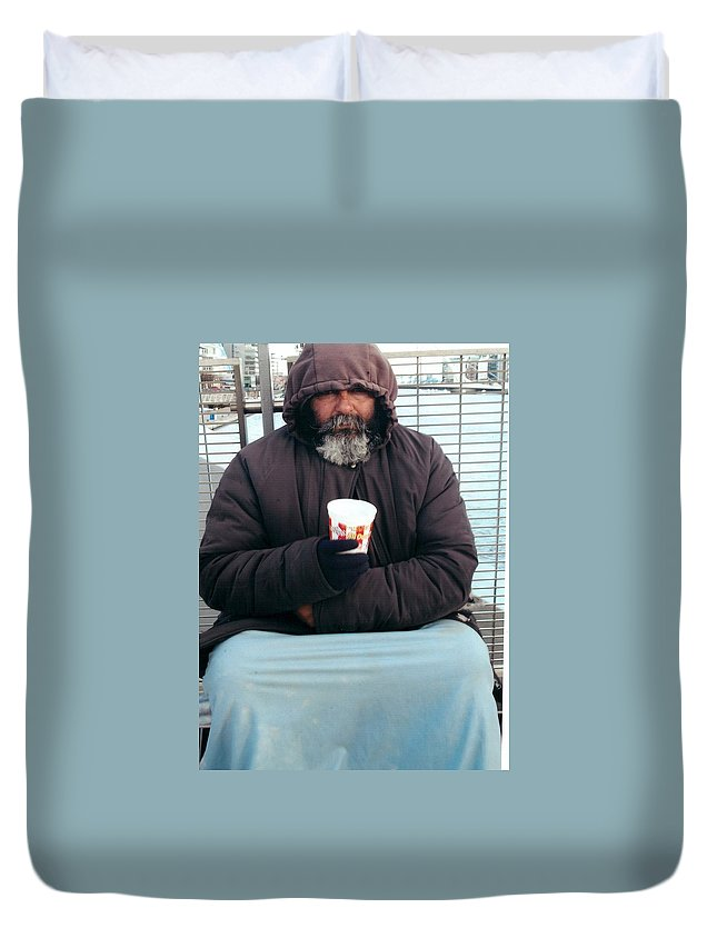 Dublin Duvet Cover featuring the photograph Against The Elements by John Hughes