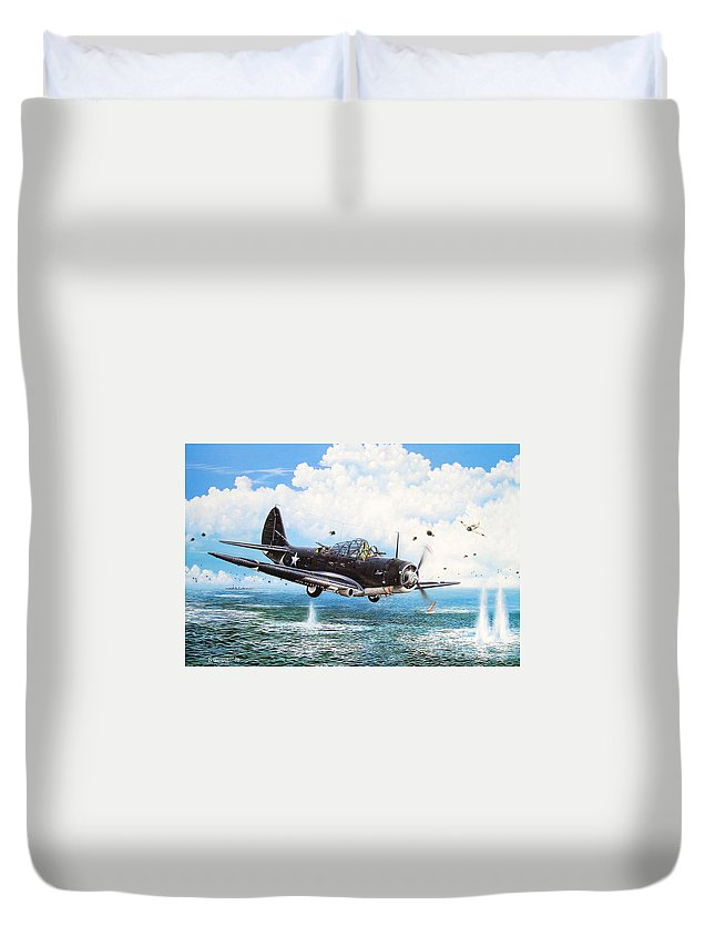 Military Duvet Cover featuring the painting Against The Odds by Marc Stewart