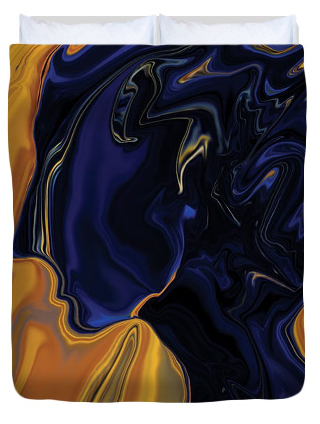 Abstract Duvet Cover featuring the digital art Against The Wind by Rabi Khan