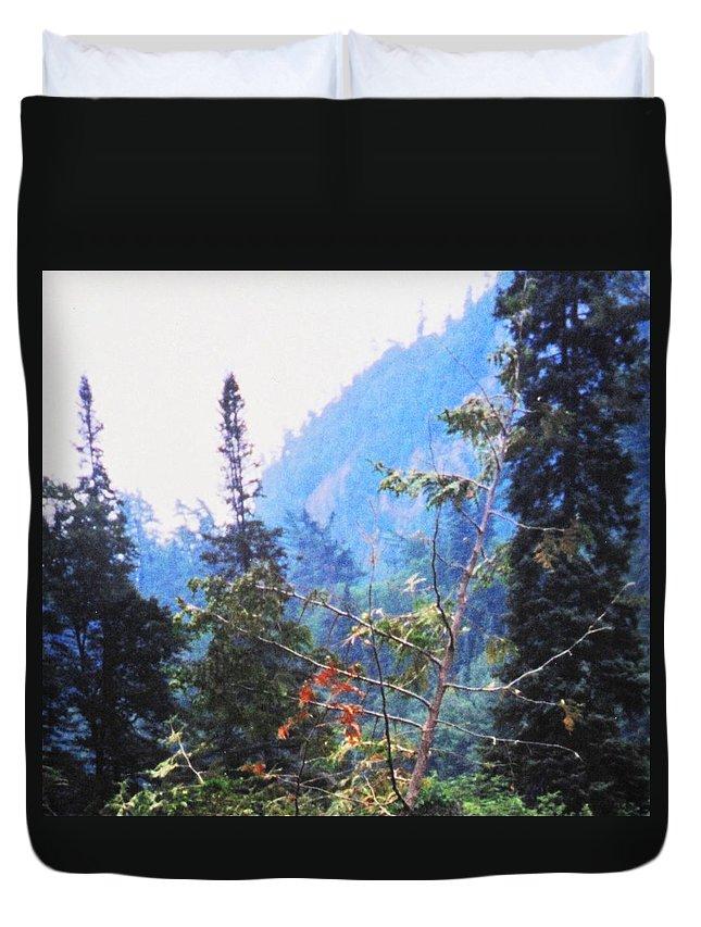 Agawa Duvet Cover featuring the photograph Agawa Canyon by Ian MacDonald