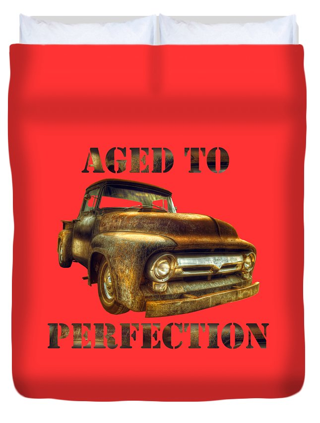 Truck Duvet Cover featuring the photograph Aged To Perfection by Mal Bray