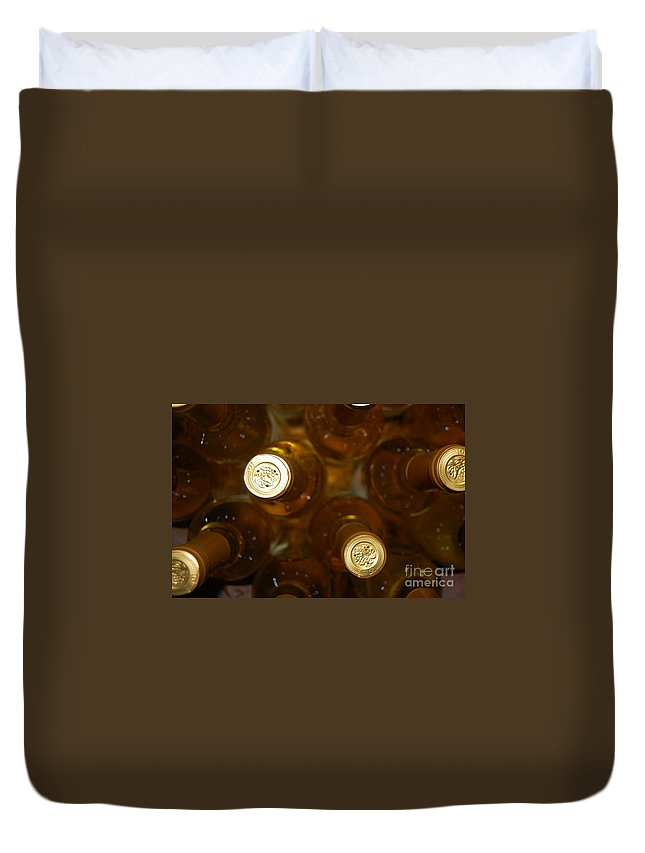 Wine Duvet Cover featuring the photograph Aged Well by Debbi Granruth