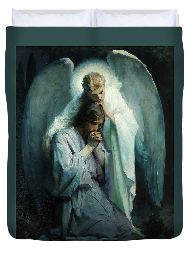 Agony In The Garden Duvet Cover featuring the painting Agony In The Garden by Schwartz Frans