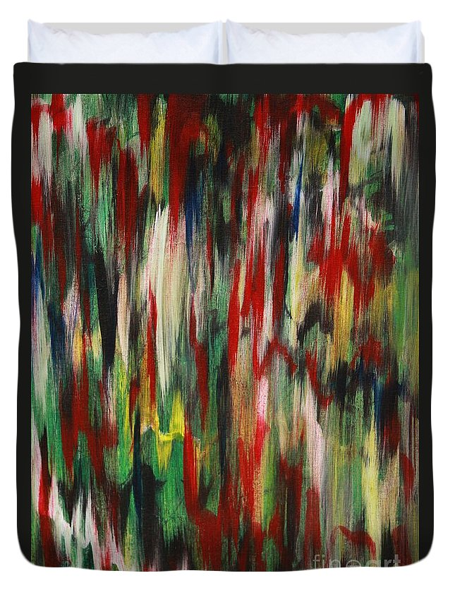 Abstract Duvet Cover featuring the painting Agony by Jacqueline Athmann