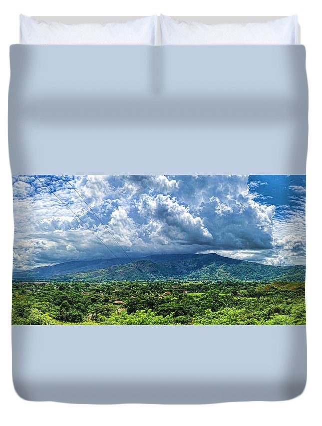 Valley Duvet Cover featuring the photograph Aguirre Valley by Galeria Trompiz