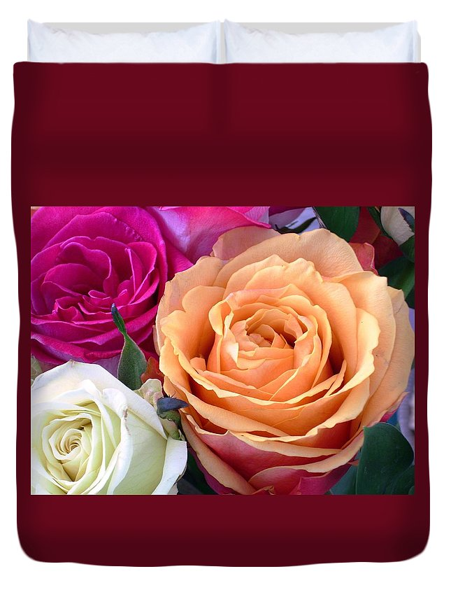 Rose Duvet Cover featuring the photograph Ahhhh by Torie Beck