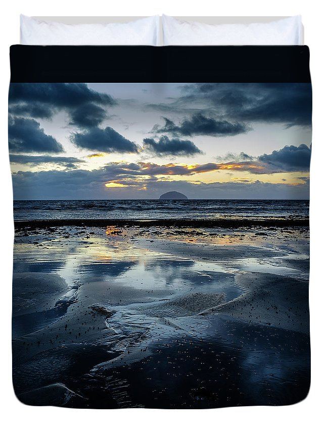Scotland Duvet Cover featuring the photograph Ailsa Craig by Peter OReilly