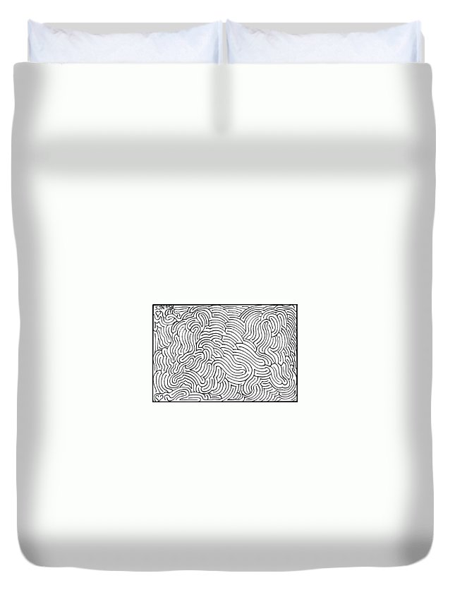 Mazes Duvet Cover featuring the drawing Aimless by Steven Natanson