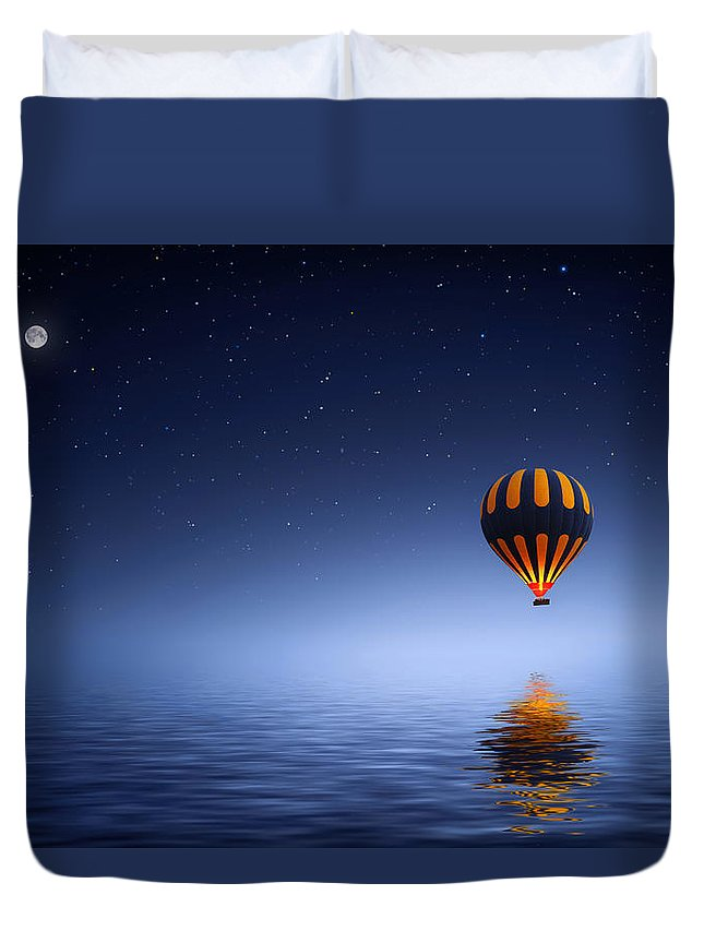 Air Duvet Cover featuring the photograph Air Ballon by Bess Hamiti
