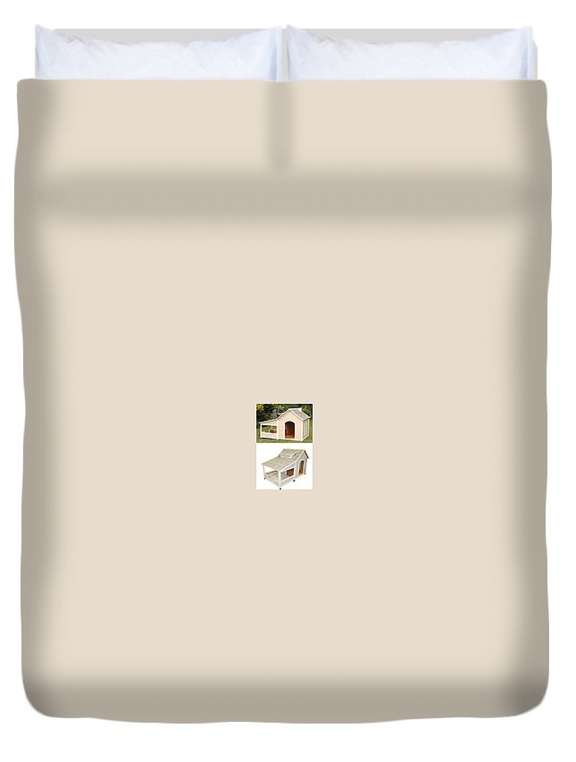 Dog House With Air Conditioner Duvet Cover featuring the photograph Air Conditioned Dog Houses by Securepets