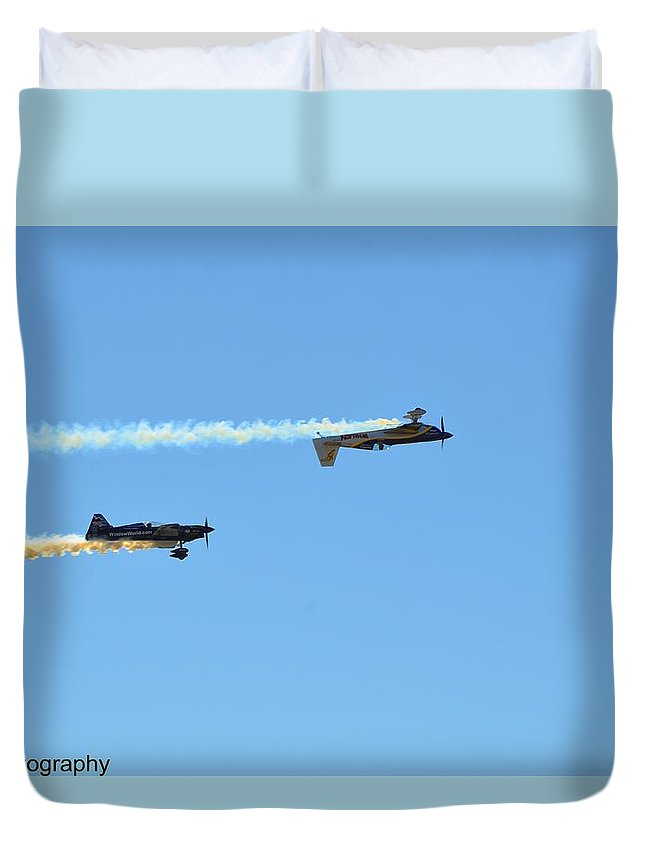 Small Planes Duvet Cover featuring the photograph Air Show by Jorge Cruz