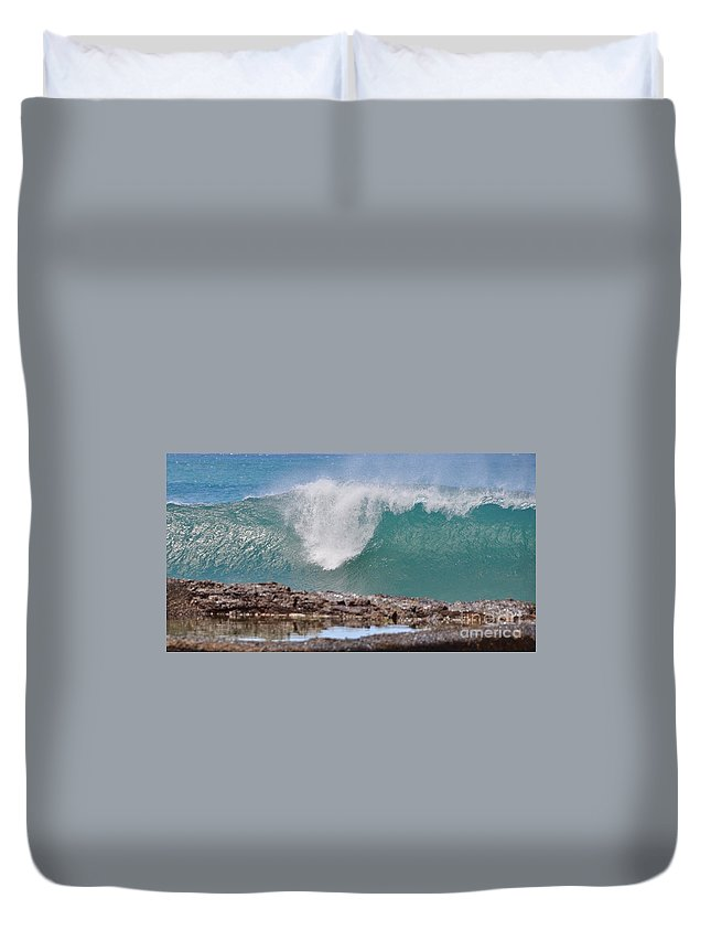 Gold Coast Duvet Cover featuring the photograph Akaw by Csilla Florida