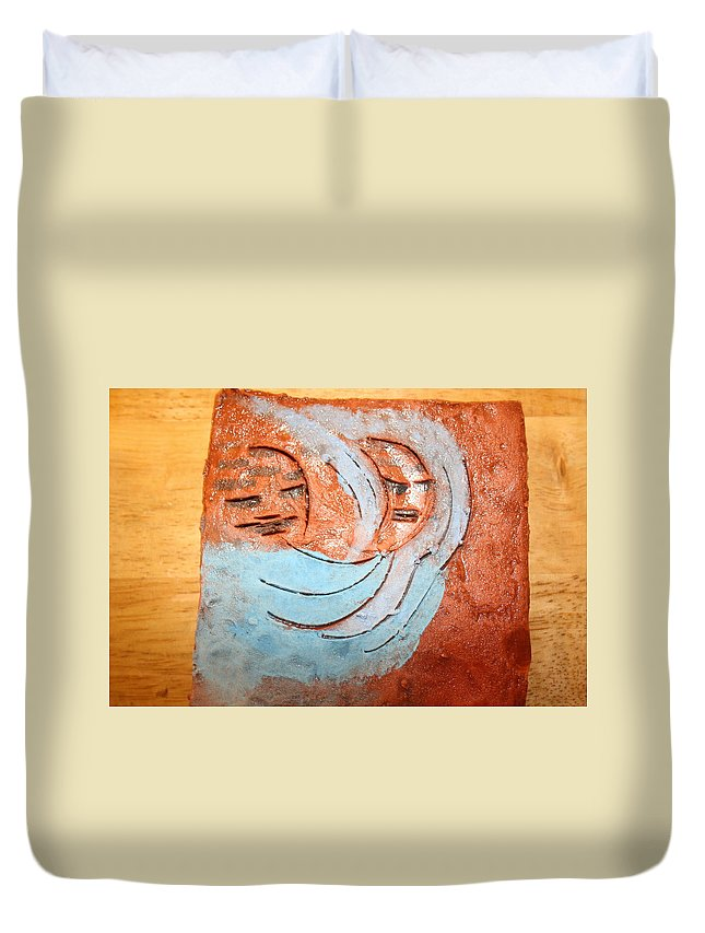 Jesus Duvet Cover featuring the photograph Akaweese - Tile by Gloria Ssali