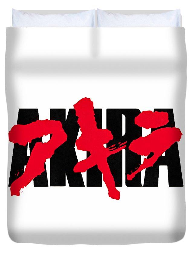 Akira Duvet Cover featuring the digital art Akira Japan Anime by Dazzle Demonize