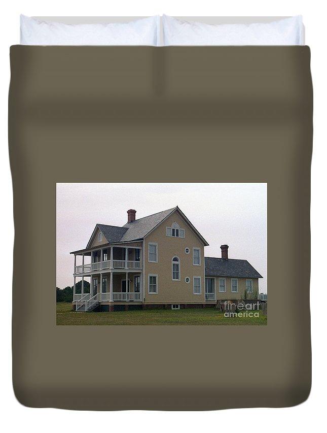 Alabama Duvet Cover featuring the digital art Alabama Coastal Home by Richard Rizzo