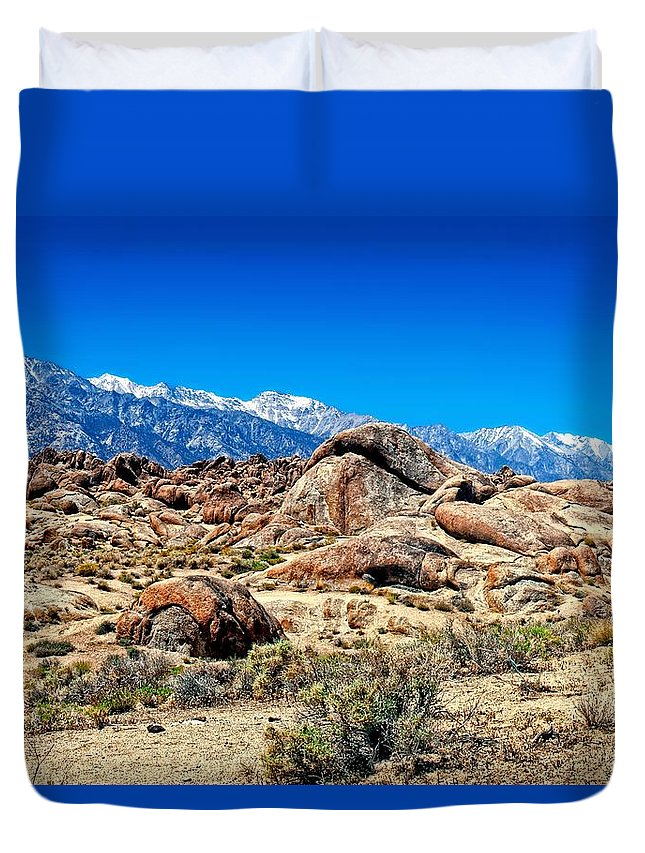 Alabama Hills Duvet Cover featuring the photograph Alabama Hills California 1 by Dale Misuraca