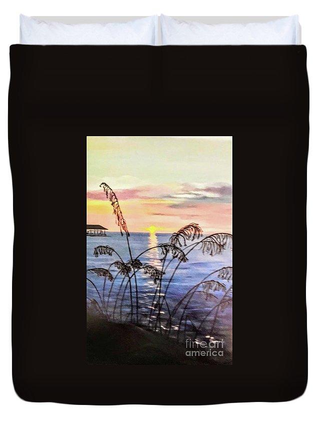Alabama Duvet Cover featuring the painting Alabama Sunset by Deborah Williams