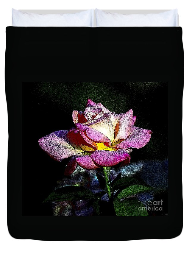 Floral Duvet Cover featuring the photograph Alan Rose by Norman Andrus