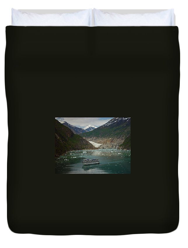 Alaska Duvet Cover featuring the photograph Alaska Endicott Glacier by Heather Coen