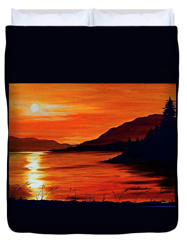 Alaska Duvet Cover featuring the painting Alaska by Renita Confer