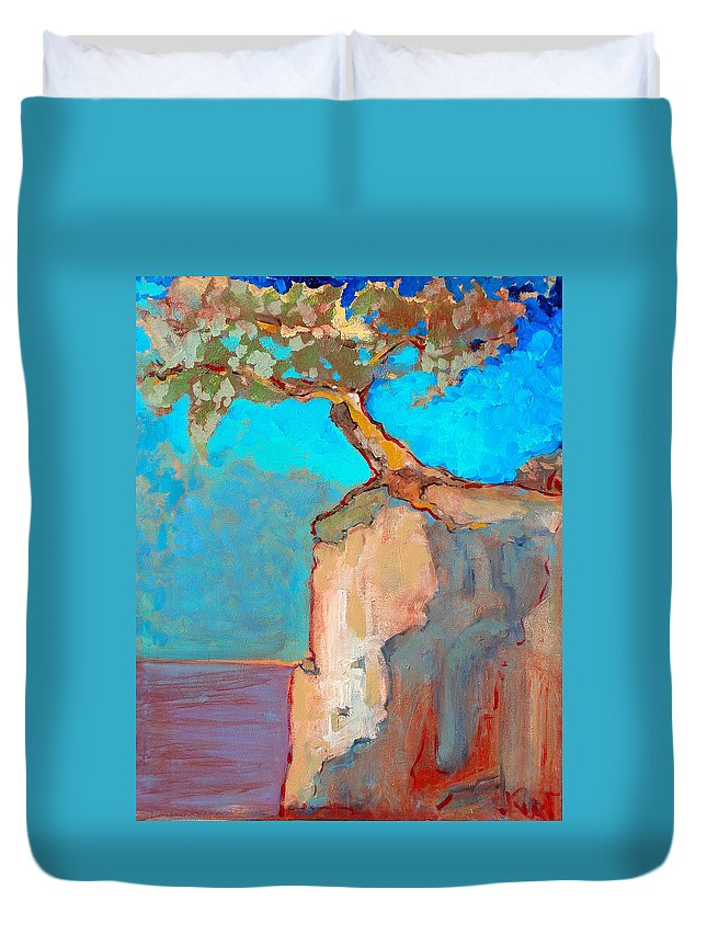 Tree Duvet Cover featuring the painting Albero by Kurt Hausmann