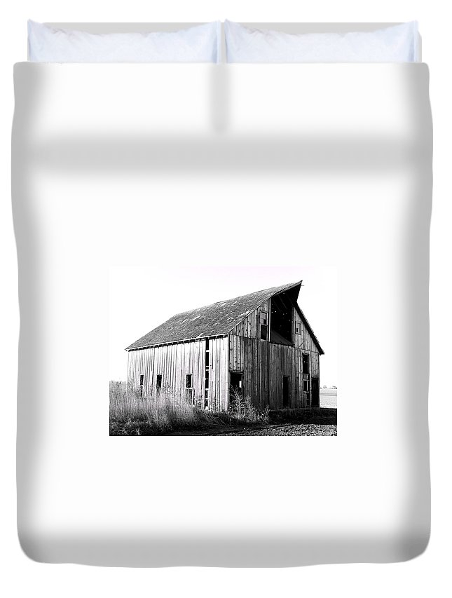 Barn Duvet Cover featuring the photograph Albert City Barn 3 by Julie Hamilton