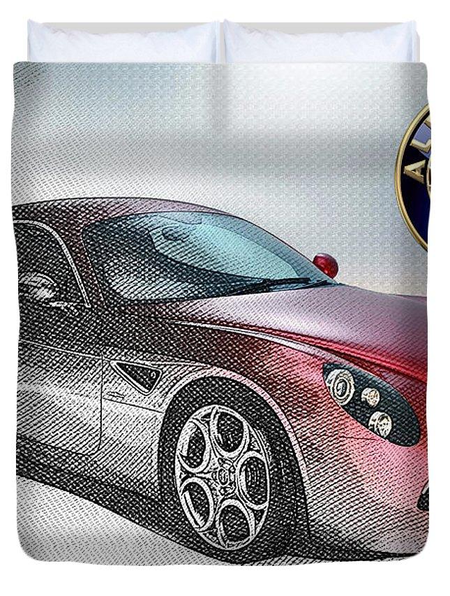 Alfa Romeo 8c Competizione Duvet Covers