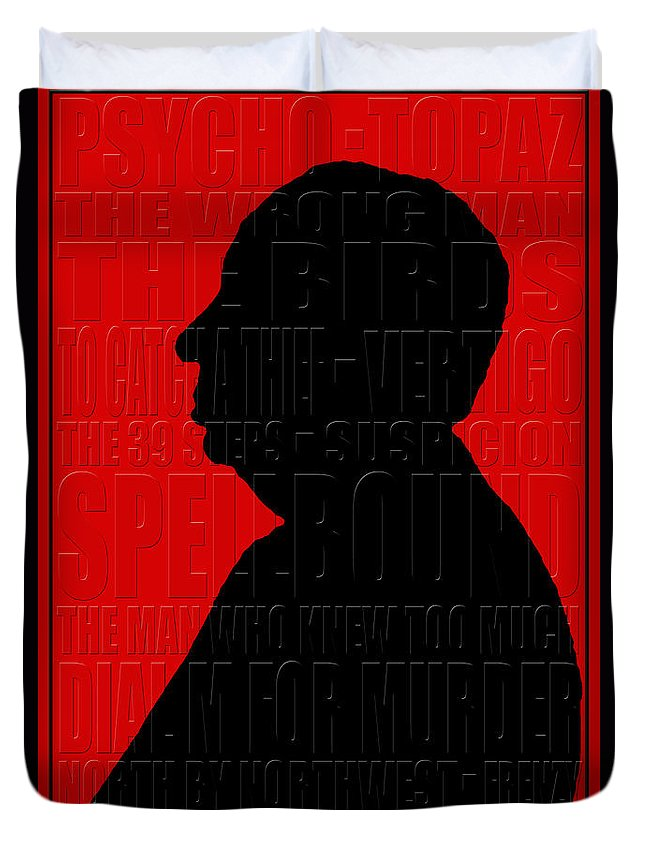 Hitchcock Duvet Cover featuring the photograph Alfred Hitchcock by Andrew Fare