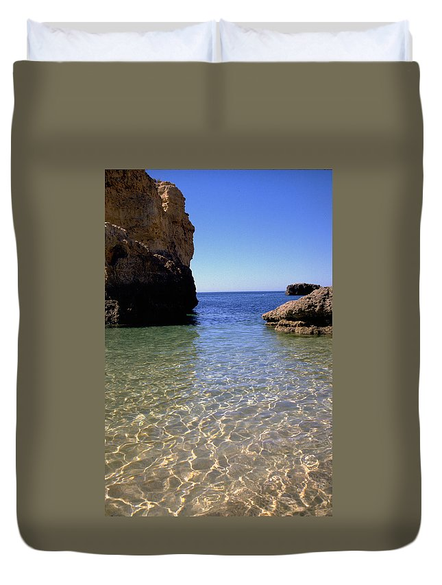 Algarve Duvet Cover featuring the photograph Algarve I by Flavia Westerwelle