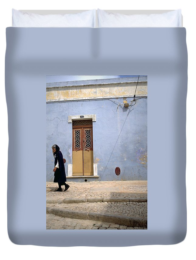 Algarve Duvet Cover featuring the photograph Algarve II by Flavia Westerwelle