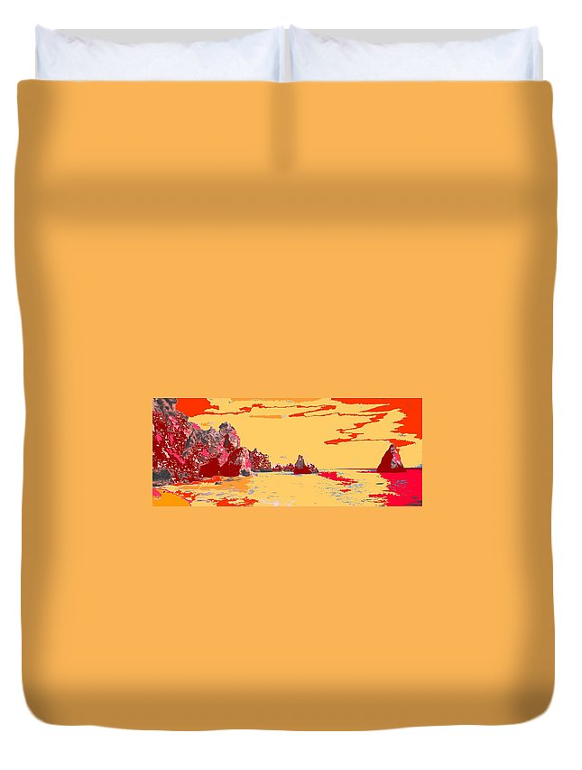 Mediterranean Duvet Cover featuring the photograph Algarve Sunrise by Ian MacDonald