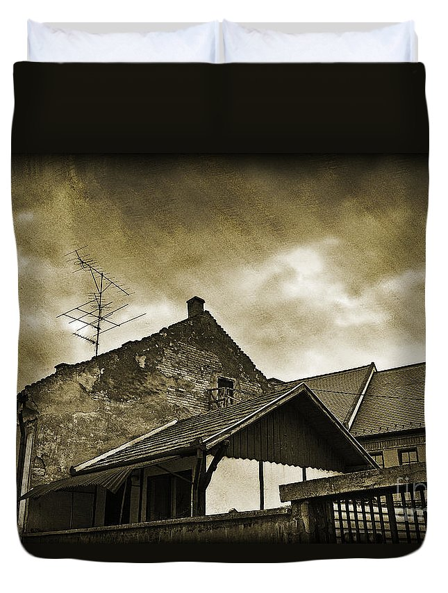 House Duvet Cover featuring the photograph Alice Does Not Live Here Anymore by Madeline Ellis