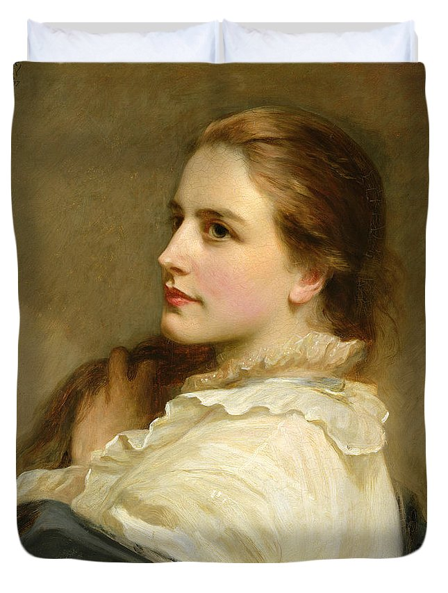 Alice Duvet Cover featuring the painting Alice by Henry Tanworth Wells