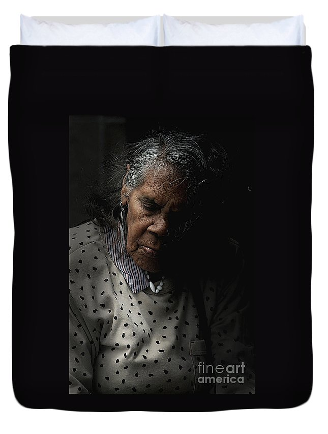 Portrait Duvet Cover featuring the photograph Alice by Sheila Smart Fine Art Photography