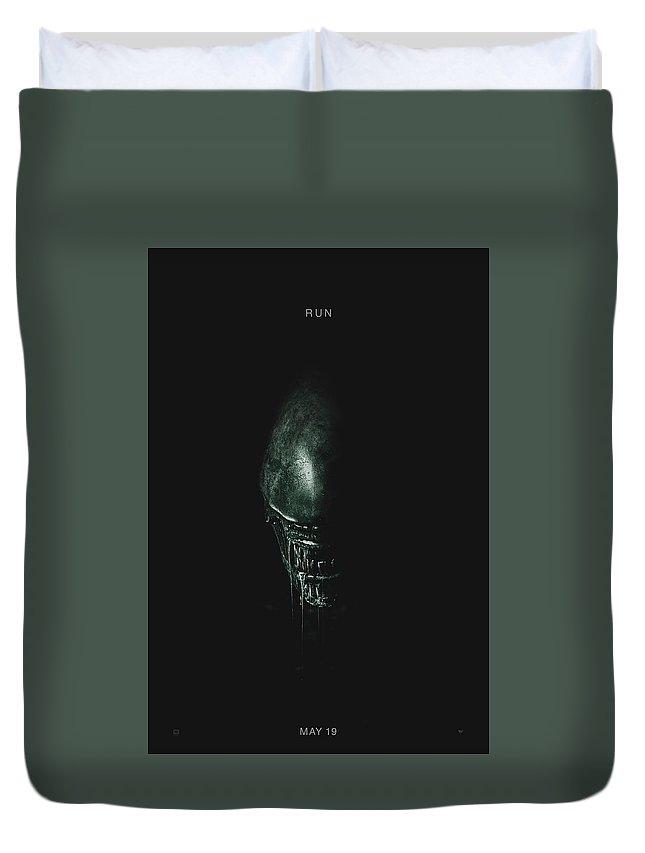 Alien Covenant Duvet Cover featuring the digital art Alien Covenant by Geek N Rock