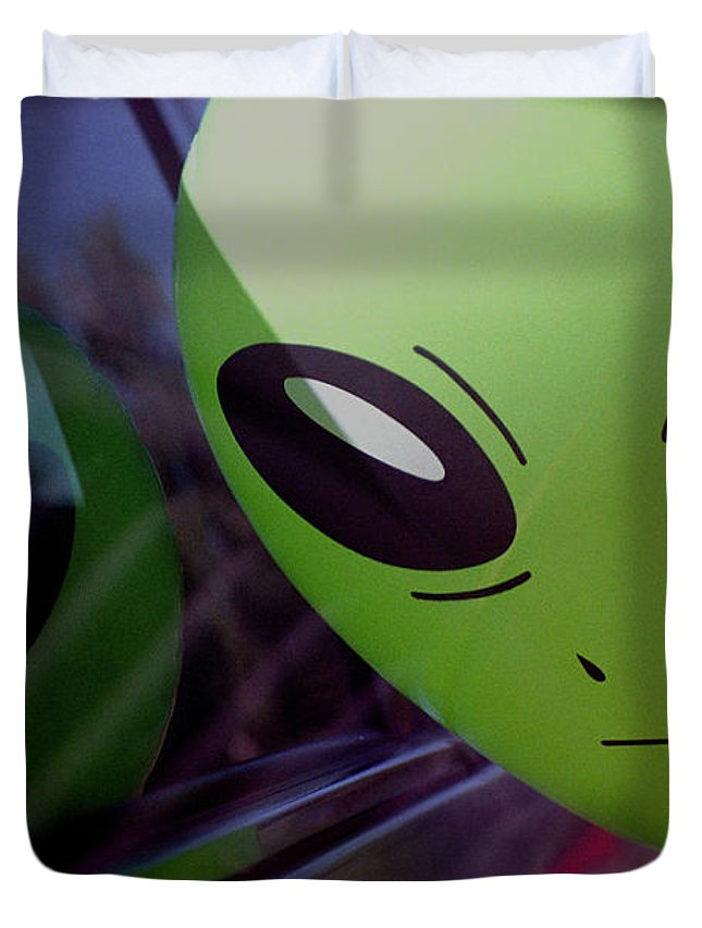 Alien Duvet Cover featuring the photograph Alien Is Closer Than He Appears by Richard Henne