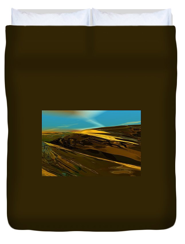 Landscape Duvet Cover featuring the digital art Alien landscape 2-28-09 by David Lane