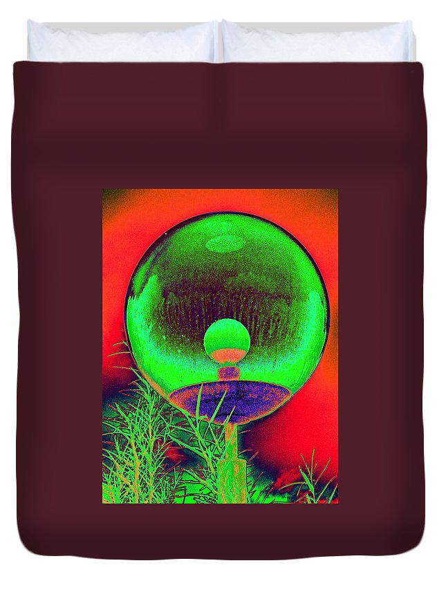 Orb Duvet Cover featuring the photograph Alien Orb by Richard Henne