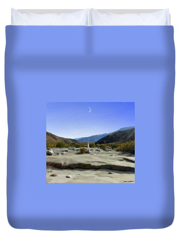Desert Duvet Cover featuring the digital art Alignment by Snake Jagger