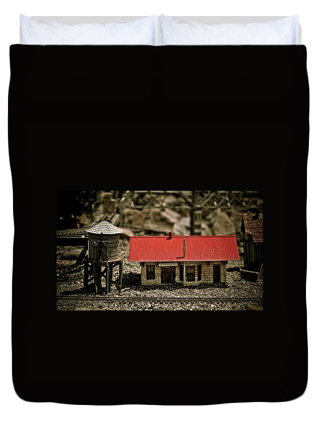Train Duvet Cover featuring the photograph All Aboard by Marilyn Hunt