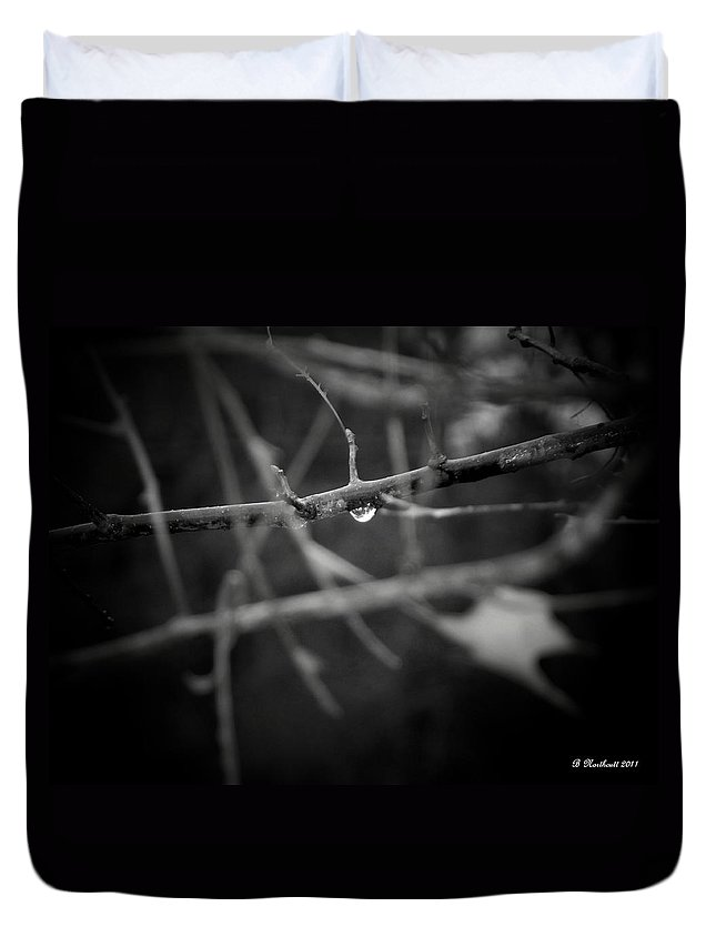 Rain Duvet Cover featuring the photograph All Alone by Betty Northcutt
