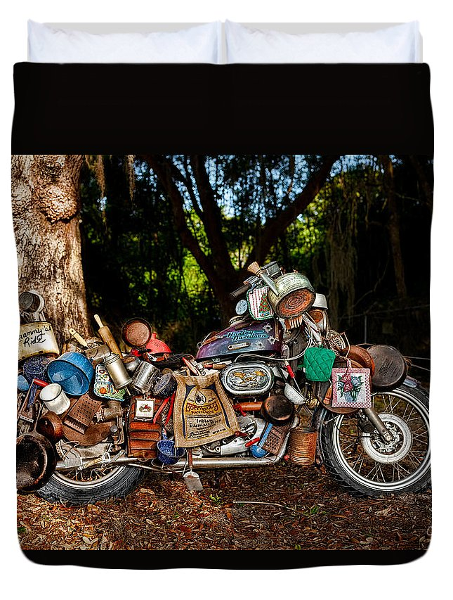 Harley Duvet Cover featuring the photograph All But The Kitchen Sink by Christopher Holmes