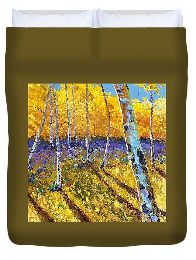 Aspen Duvet Cover featuring the painting All In The Golden Afternoon by Hunter Jay