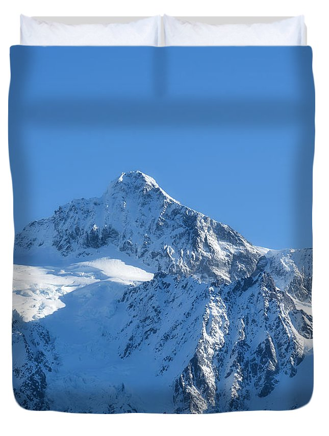 Mountain Duvet Cover featuring the photograph All Is White by Lena Photo Art