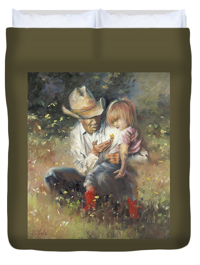 Children Duvet Cover featuring the painting All Of Life's Little Wonders by Mia DeLode