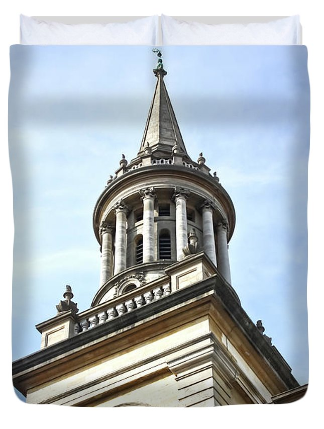 City Of Oxford Duvet Cover featuring the photograph All Saints Church Oxford High Street by Terri Waters