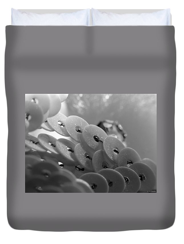 Abstract Duvet Cover featuring the photograph All That Glitters by Lauren Radke