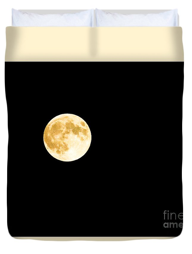 Harvest Moon Duvet Cover featuring the photograph All That Glitters by Sandy Molinaro